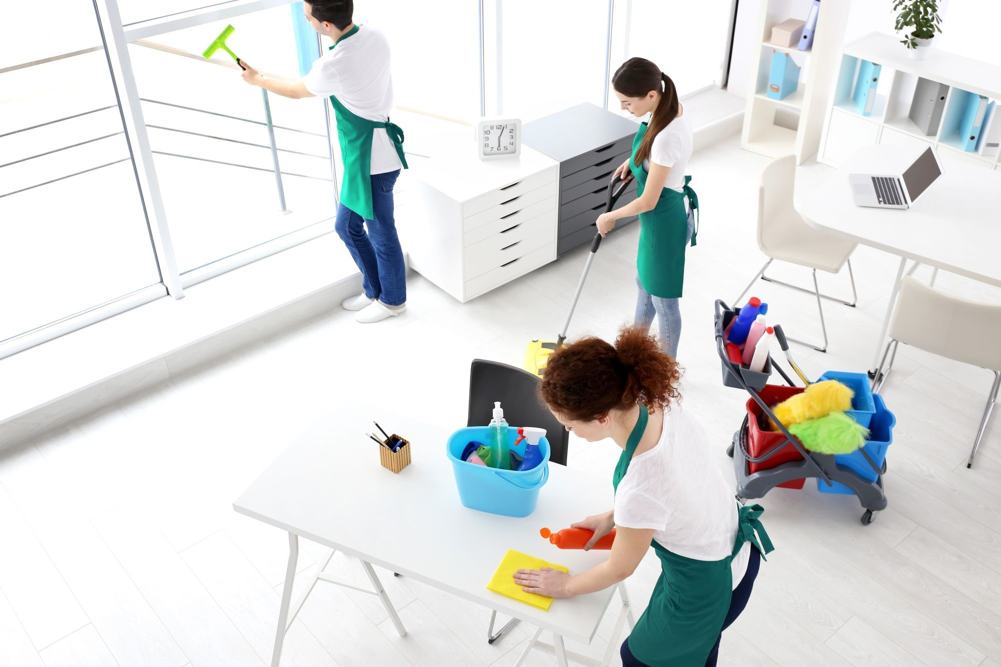 Hire Professional Janitorial Services To Clean Up After Renovation - Cleaning dust after tile removal
